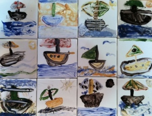 OES Sailboat Tiles Fathers Day 2014
